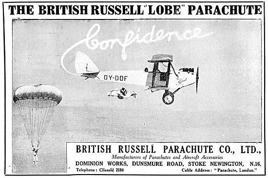 British Russell Parachutes 1930