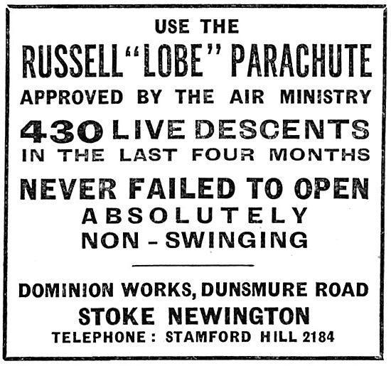 British Russell Lobe Parachutes