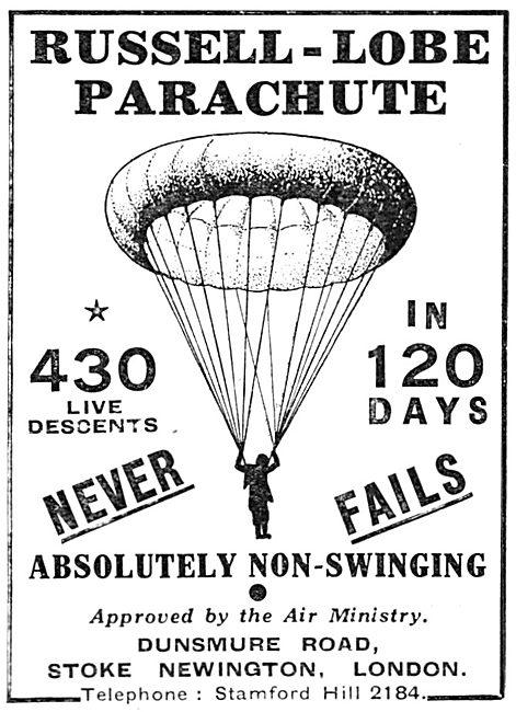 British Russell-Lobe Parachutes
