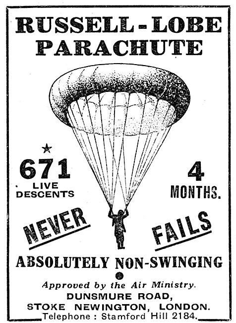 Russell-Lobe Parachutes
