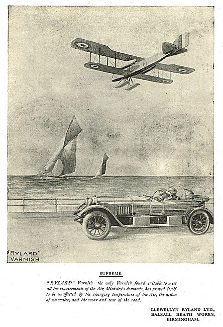 Llewellyn Ryland -  Rylard Aircraft Varnishes & Enamels