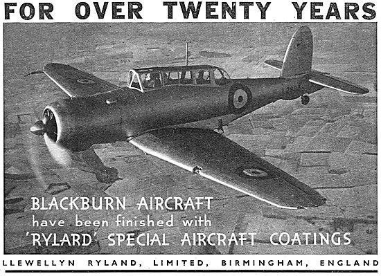 Llewellyn Ryland. Rylard - Aircraft Varnishes & Enamels