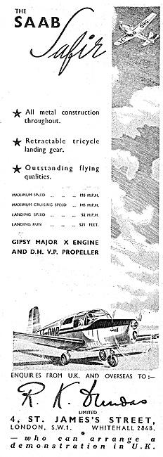 SAAB Safir 1947 - R.K.Dundas