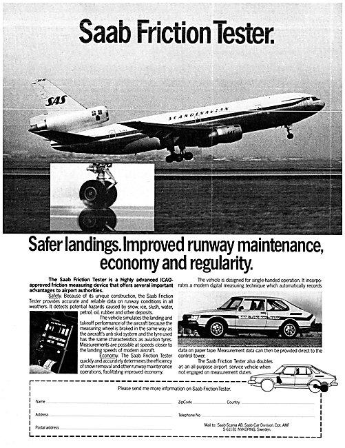 SAAB Runway Friction Tester - SAAB 99