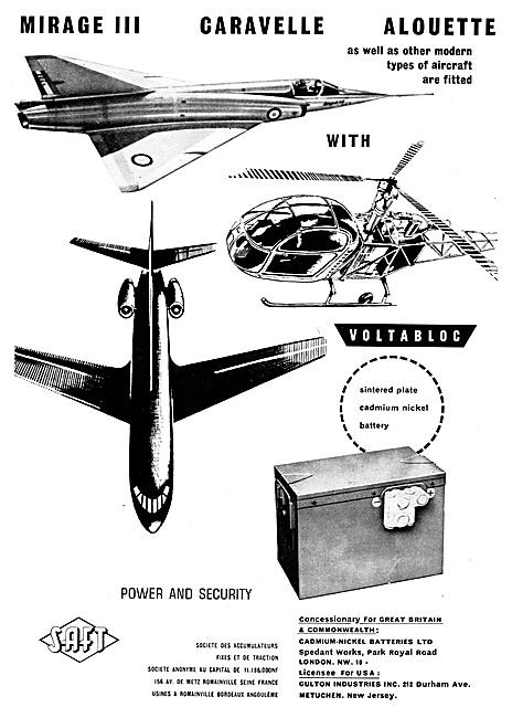 SAFT Accumulators 1960