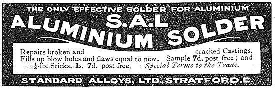 Standard Alloys. Aluminium Solder