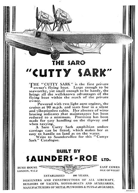 SARO Cutty Sark 1930