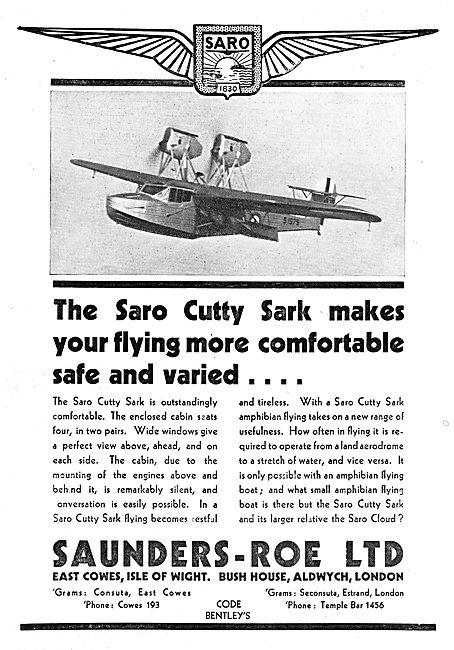 SARO - Saunders-Roe Cutty Sark