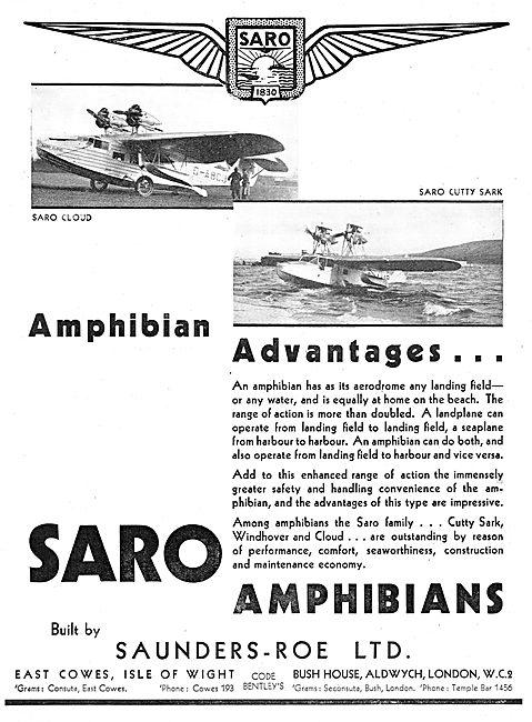 SARO - Saunders-Roe Cutty Sark : SARO Cloud