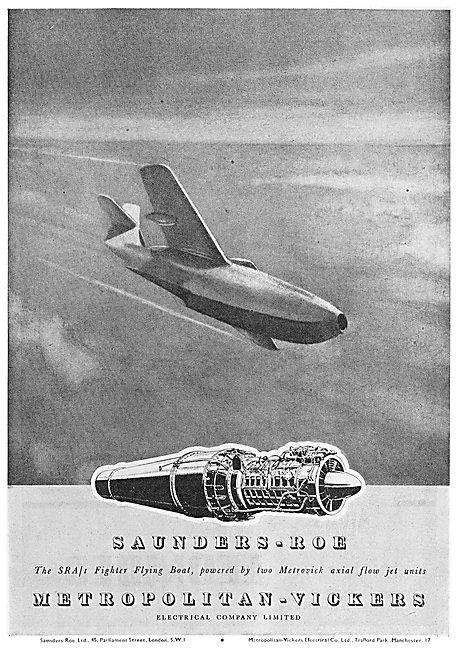 Saunders-Roe SARO SRA 1 Metrovick Axial Flow Jet Engine