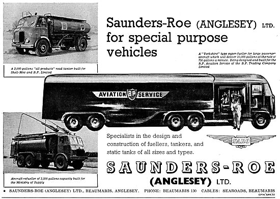 Saunders-Roe SARO  Anglesey Yorkshire Type Aircraft Fueller