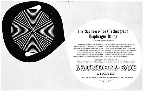 Saunders-Roe Technograph Diaphragm Gauge