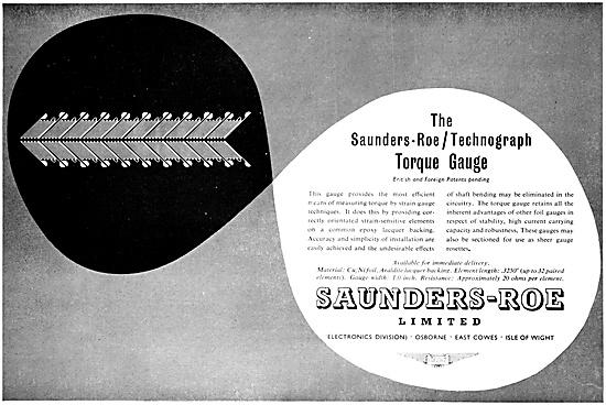 Saunders-Roe Technograph Torque Gauge