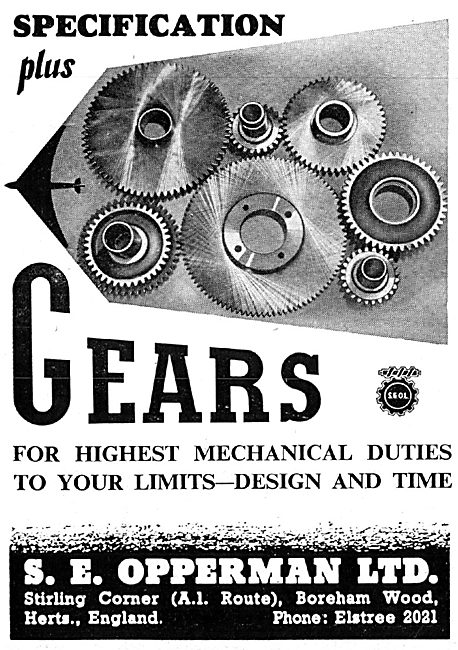 S.E.Opperman Aircraft Gears & Component Manufacturers