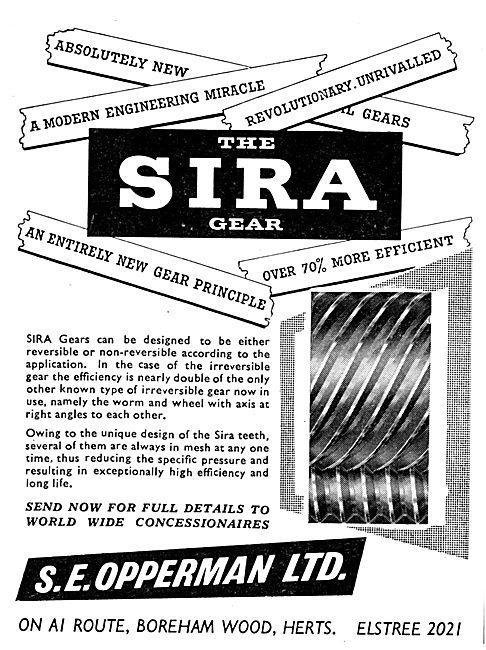 S.E.Opperman  SIRA Aircraft Gears