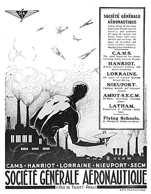 Societe Generale Aeronautique: Cams, Hanriot, Lorraine, Nieuport