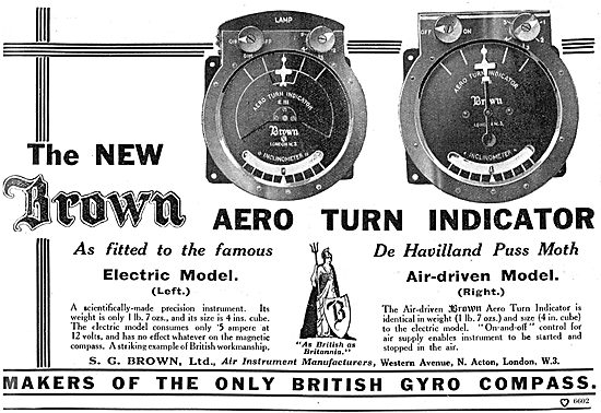 Brown Electric Aero Turn Indicators - As British As Britannia