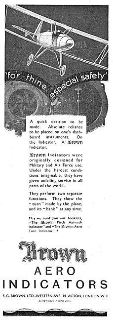 Brown Aero Turn & Bank Indicators