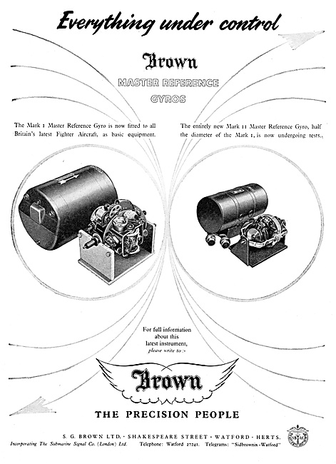 S.G.Brown Master Reference Gyros 1959