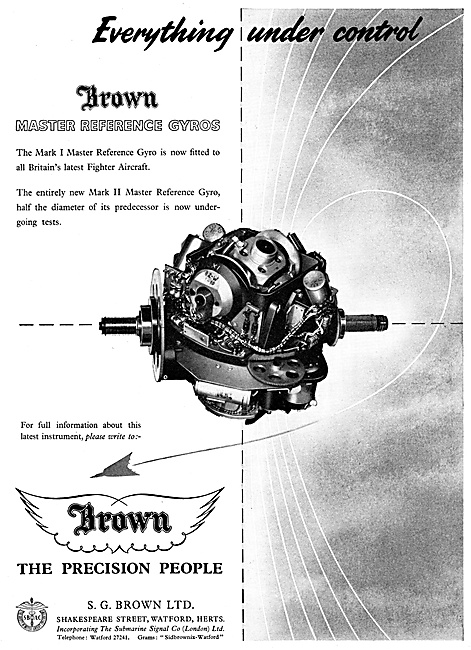 S.G.Brown Gyroscopes For Aircraft