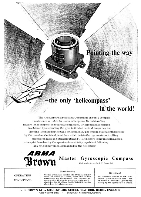 S.G.Brown. Armabrown Gyroscopic Compass 1960