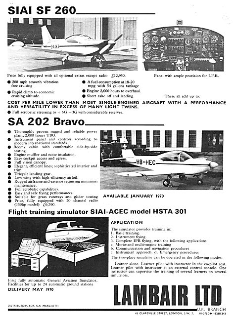 SIAI Marchetti SF 260 - SA 202 Bravo