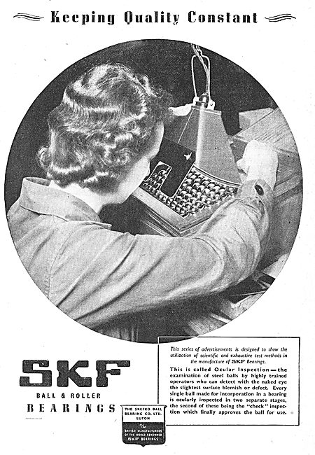 SKF Ball And Roller Bearings For Aircraft Components