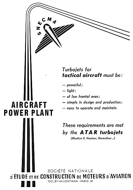 SNECMA  Aero Engines 1954