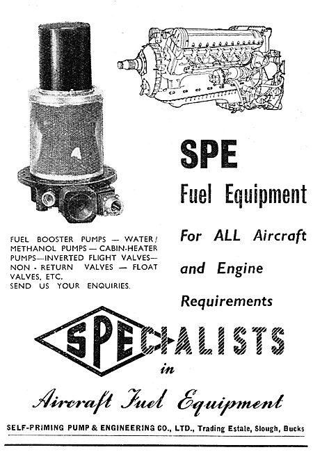 SPE Aircraft Pumps, Valves & Fuel Line Equipment