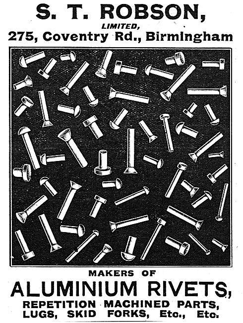 S.T.Robson Ltd - Makers Of Aluminium Rivets & Machined Parts