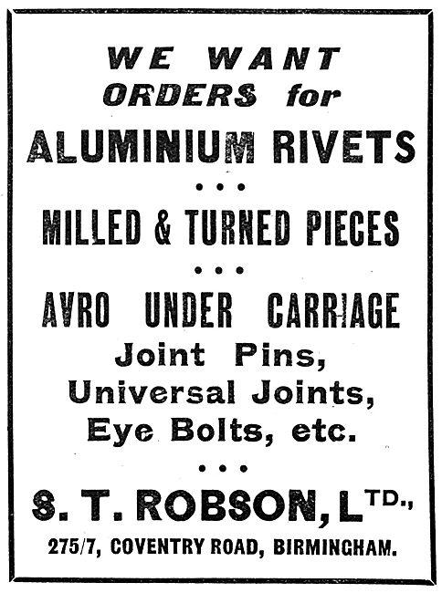 S.T.Robson Ltd - General Engineering, Rivets & Turned Parts