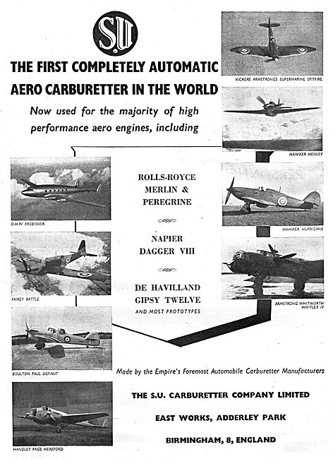 S.U.Aero Engine Carburetters
