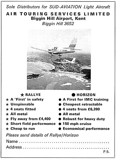 Sud Aviation Socata Rallye Gardan Horizon - Air Touring Services