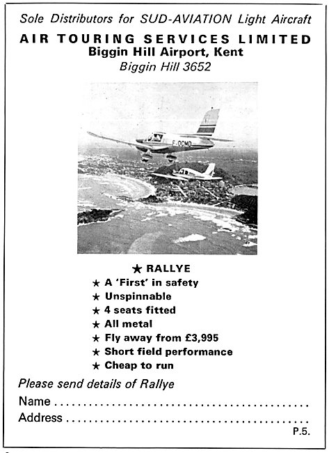 Sud Aviation Socata Rallye  - Air Touring Services