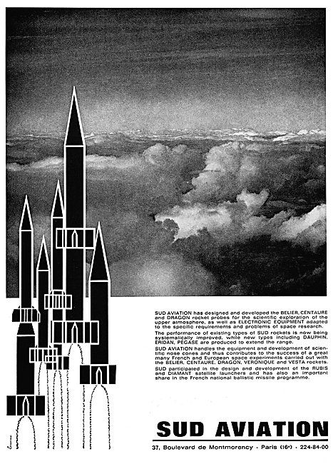 Sud Aviation Belier, Centaure & Dragon Rocket Probes
