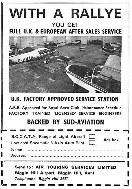 Sud Aviation - Rallye - SOCATA - Air Touring Services