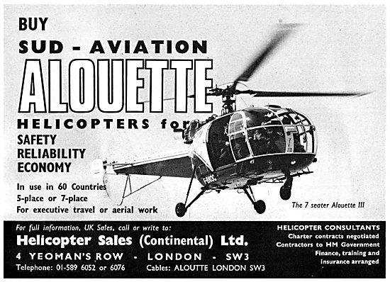 Sud Aviation Alouette - Helicopter Sales (Continental) Ltd