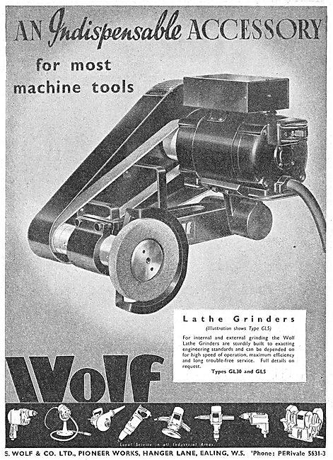 Wolf Machine Tools - GL5 Lathe Grinder. 1941