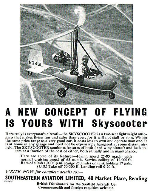 Saalfeld Aircraft Co Skyscooter : Southeastern Aviation Ltd