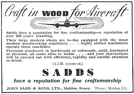 John Sadd - Woodworkers To The Aircraft Industry 1941