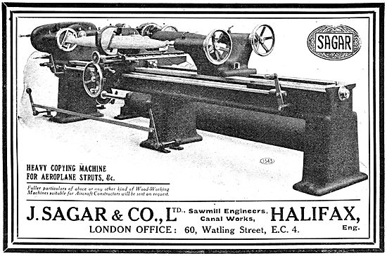 Sagar Heavy Copying Machine For WW1 Aeroplane Struts