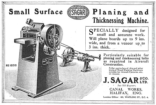 Sagar Planing & Thicknessing Machine 1917