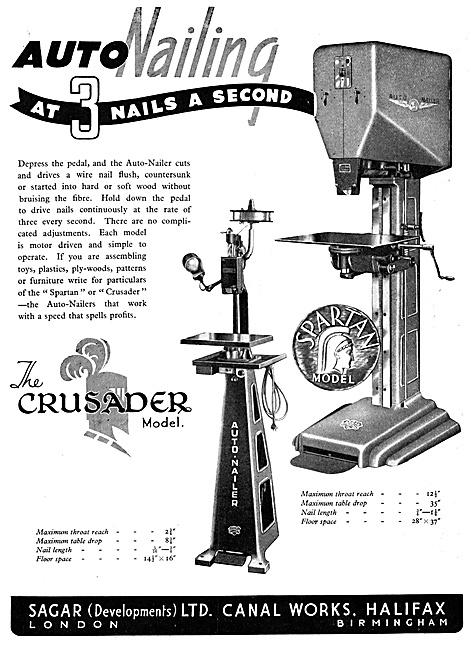Sagar Machine Tools. Sagar Crusader Auto-Nailing Machine