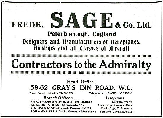 Sage & Co Designers Of Aeroplanes & Airships