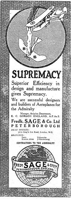Fredk Sage & Co - Designers & Manufacturers Of Aeroplanes