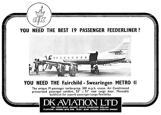 DK Aviation. Swearingen Aircraft Sales