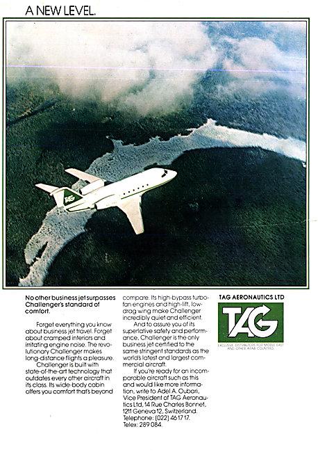 TAG Aeronautics Canadair Challenger
