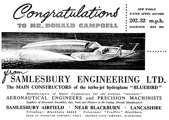Salmesbury Engineering - Aeronautical Engineers & Machinists