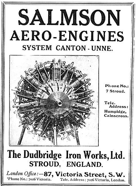 Dudbridge Iron Worls Stroud. Salmson Aero-Engines