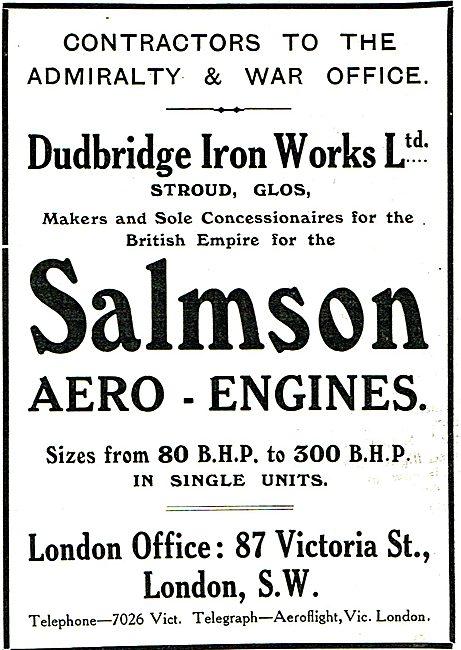 Dudbridge Iron Works - Salmson 80-300 BHP Aero Engines